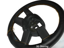 FITS MERCEDES ACTROS NEW 2012+ BLACK LEATHER STEERING WHEEL COVER GOLD STITCHING