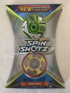 Hot Wheels Spin Shotz Speed Pack Hyper Speed Track Discs-NEW SEALED