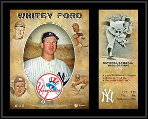 """Whitey Ford New York Yankees 12"""" x 15"""" Hall of Fame Career Profile Plaque"""