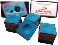 4 Cubes Blue Diamond Pool Cue Chalk Performance Chalk Longoni Premium Chalk