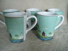 New listing Sakura Warren Kimble Coastal Breeze 5 Melamine Coffee Cups Free Shipping
