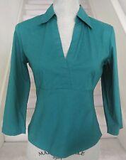 Green Stretch BANANA REPUBLIC Cotton/Lycra 3/4 Sleeves Top, Sz 2