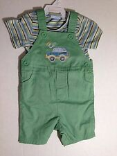 First Impressions 2 piece Outfit Clothing Baby Infant Safari Car Green 18 Months