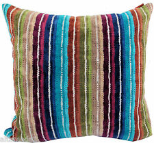 "MISSONI HOME 3D CHEVRON CUSHION COVER 16x16"" VELOUR COTTON SAUNA SPA NATHAN T70"