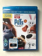 Sealed The Secret Life of Pets (3D Edition + 2D Edition + DVD + Digital Copy)