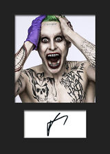 JARED LETO (Suicide Squad - JOKER) #2 A5 Signed Mounted Photo Print