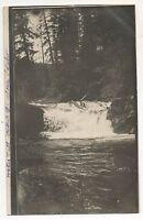 RPPC Waterfall near Coeur d'Alene Idaho - Vintage ID Real Photo Postcard