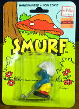 Smurfs Golfer Golfing Smurf Vintage Figure Golf Club Ball PVC Toy Figurine 20055