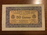 Chambre De Commerce Banknote. France. 50 Centimes. Dated 1915-1923.