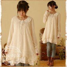 Mori Girl Kawaii Collar Lace Dress Cosplay Japanese Fashion Cute Casual School