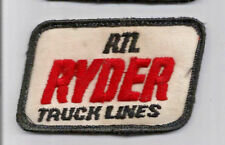 Ryder Truck Lines (RTL) driver patch 1-7/8X 3-1/4 #4231