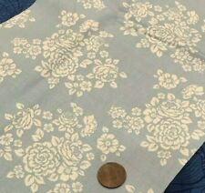 """White Flowers on Baby-Boy Blue """"Anne of Green Gables"""" by Penny Rose 100% Cotton"""