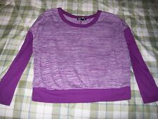 One Step Up Purple Long Sleeved Top Size Junior Small