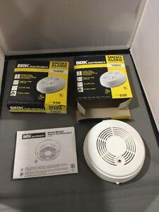 2 BRK Electronics Battery Powered Single Station Smoke Alarm Ionization (83R)