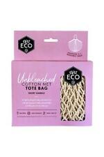 Ever Eco Reusable Tote Shopping Grocery Bag Organic Cotton Net Short Handle