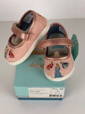 Toms Disney Pink Sleeping Beauty Printed Canvas Mary Jane Shoes Toddler 4 New