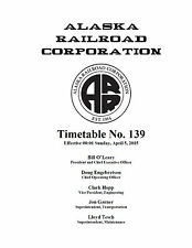 Alaska Railroad Employee Timetable #139 APRIL 5 2015 ARR ETT