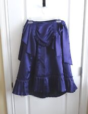 Royal Purple Victorian Style Demi Skirt, with Drape, Hand Sewn, 23 Inch Waist