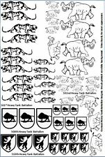 German Heavy Tank Battalion  Decals 1/35 1/32 1/48 1/72 scales Tiger Tank