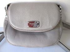 Michael Kors Crossbody Handbag Purse Gray Leather With Adjustable Strap