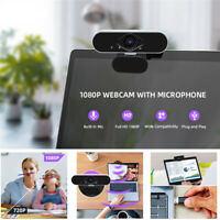 USB HD 1080P PC Webcam Camera Laptop Desktop Digital Web Cam with Mic Auto Focus
