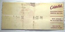 LOU REED Concert Ticket Stub 2000 Colston Hall Bristol