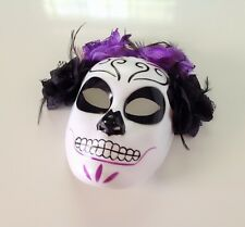 Day of The Dead Mask Dia de Los Muertos Halloween Costume Mascara Catrina Mask