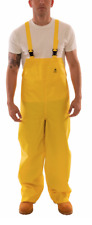 NEW! TINGLEY FLAME RESISTANT RAIN OVERALL BIBS, PVC YELLOW, SIZE: 4XL, O56047
