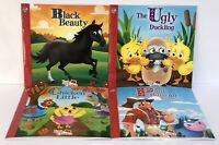 New Lot 4 ILLUSTRATED Children's Little Classic Books Black Beauty, Paul Bunyan