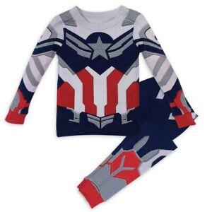 New DISNEY STORE Captain America Costume Boys Pajamas PAL Pajama Set 4,5,6,8