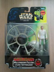 Star Wars Power of the Force Gunner Station Millennium Falcon and Luke Skywalker