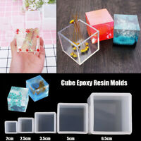 Resin Mold Silicone Mould Cube Molds DIY Craft UV Epoxy Jewelry Making Tools