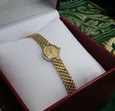 "Vintage Elegant BAUME & MERCIER Lady's 14K Solid Gold Wrist Watch 7"" Long"