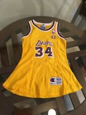 Shaquille O'Neal Los Angles Lakers Yellow Champion Toddler Jersey Dress 3T