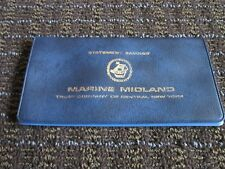 Vintage Marine Midland Bank Checking Account Cover Collectible Central NY