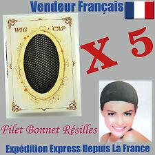 Lot De 5 Filet Bonnet Noir Neuf Pour Cheveux Perruque Wig Résilles Weaving CAP