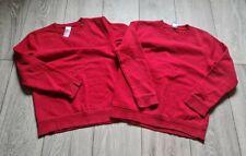 Boys F&F Red School Jumper Bundle 2x Size 10-11 Years