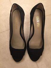 Colin Stuart Black High Heel Pumps Shoes Sz 7.5M