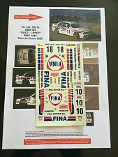 DECALS 1/24 BMW M3 DUEZ RALLYE MONTE CARLO 1989 RALLY WRC HASEGAWA