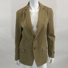 Diesel S Corduroy Blazer Jacket Brown Cotton 2 Button Long Sleeve Pockets