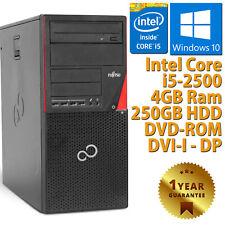 PC COMPUTER DESKTOP RICONDIZIONATO GRADO B FUJITSU P700 CORE i5-2500 4GB 250GB