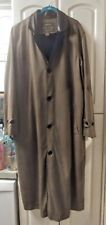 Men's ORVIS Over Coat Classic Long Trench Olive Green M
