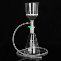 Ansaugfilter 250ml Glas Buchner Trichter + 500ml Liter Erlenmeyer-Kolben Kit neu