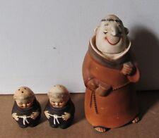 Vintage ceramic Norcrest monk decanter and Goebel salt & pepper shakers