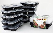 FARINA di Prep contenitori con 3 Compartimenti e corrispondenza Coperchi/BPA-free, riutilizzabile