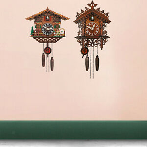 Cuckoo Clock Birdhouse Antique Wall Clocks Home Decor Livingroom Windchime