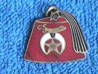 Small Antique Enamel on Brass Shriner Fez Pendant-Charm-Fob/Very Clean