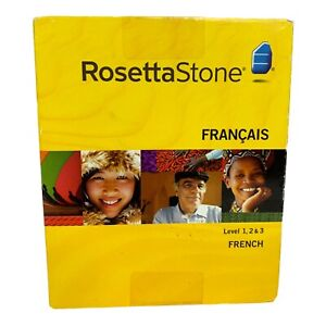 New Rosetta Stone Level 1 2& 3  French Francais Language Learning Windows/Mac CD