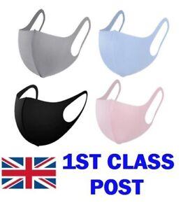 3 x Reusable Protective Face Masks Men Women Unisex Mouth Nose Dust Washable UK
