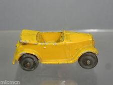 Vintage DINKY TOYS modèle No.35d Austin 7 Ouvrir Tourer (Jaune/Tan Version)